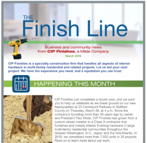 The Finish Line brings CIP Finishes news to your inbox - CIP